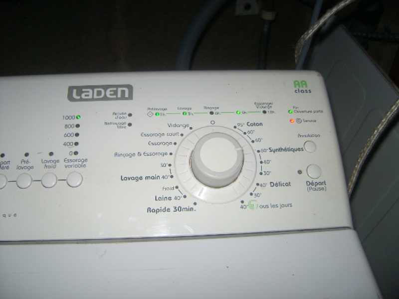 Lave linge lave linge laden ev1045 voyant allum s - Comment mettre une machine a laver ...